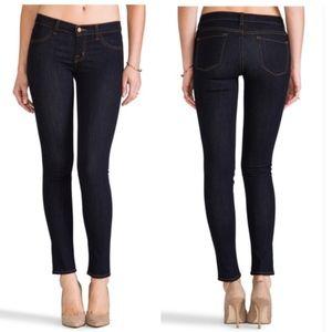 J Brand Mid Rise Super Skinny Jeans Starless Wash